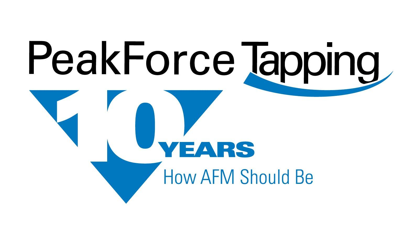 Peak Force Tapping 10 Year Logo 2019 091V5 Color Slogan
